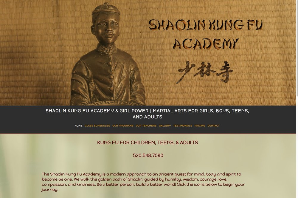 Web Design Shaolin King Fu