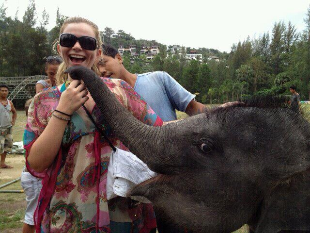 Elissa grey and the elephant