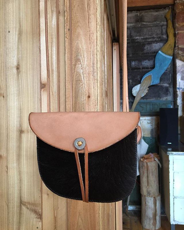 Making way for new things and found two of these here cowhide possible bags with antler tip closures. DM if interested.