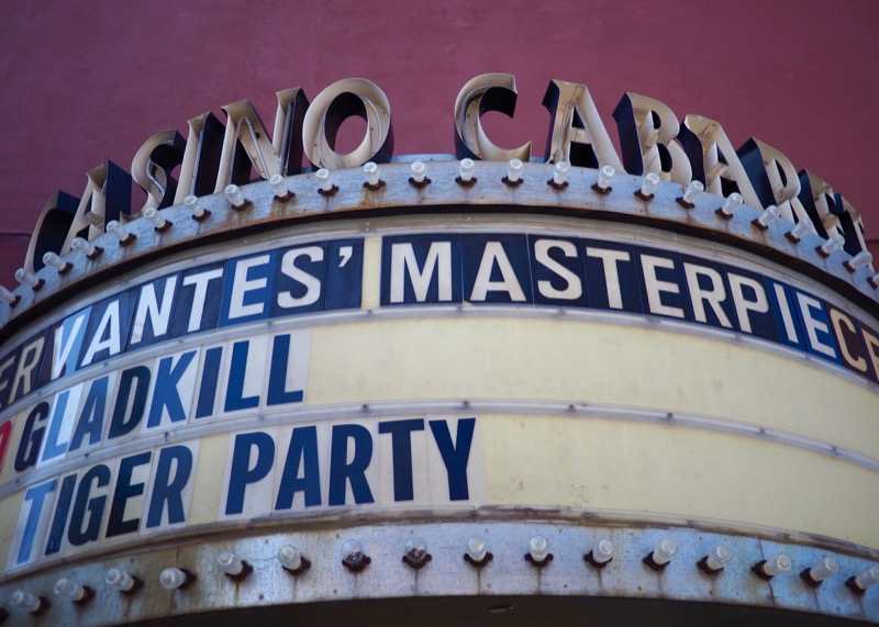 The marquee outside of the current Casino Cabaret.