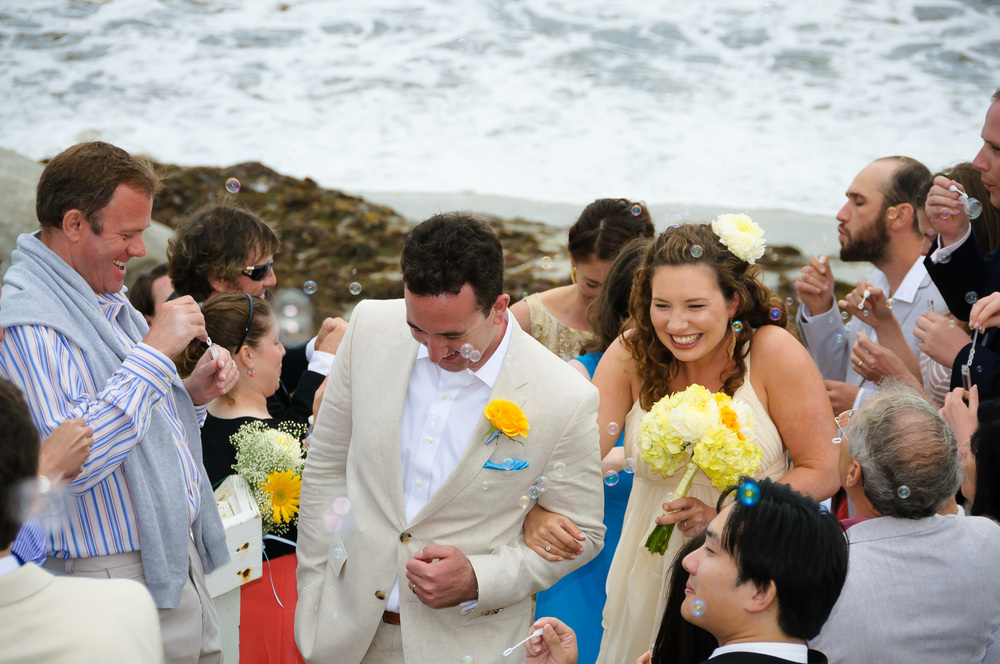 San Diego Beach Wedding Recessional