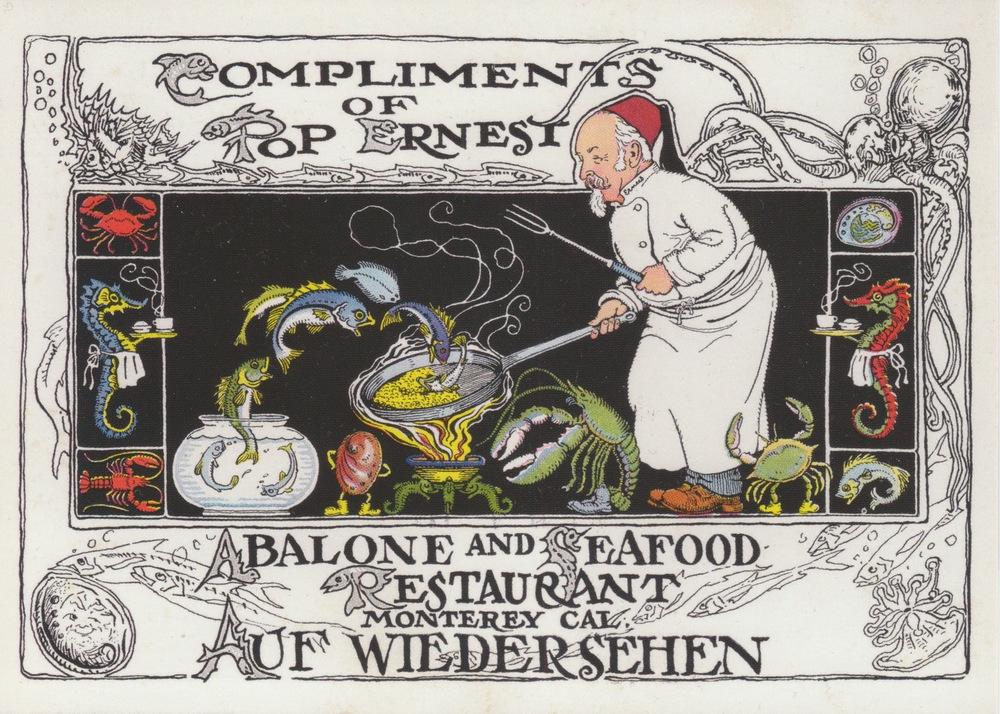 Pop Ernest Monterey Restaurant Ad Classic