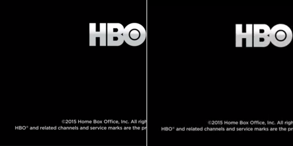Text is definitely clearer with HBO's older service.