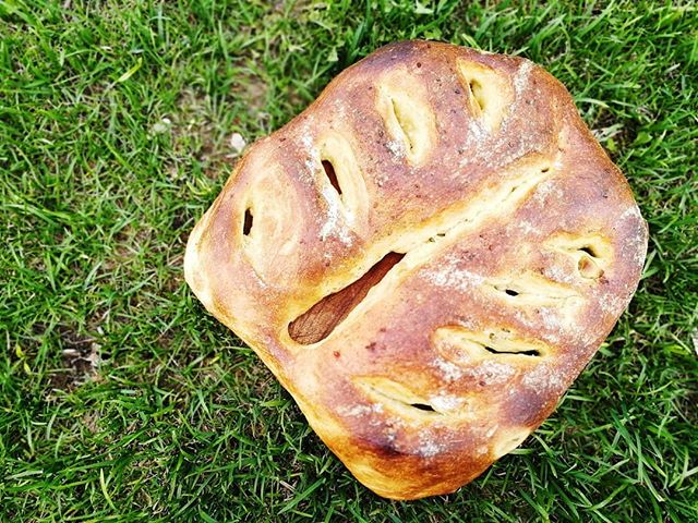 На этой неделе обязательно забегите ко мне за хлебом, осоьенно если планируете пикник — есть фугас с оливками и травами, огромный и вкусный. Заодно увидимся! В профиле есть ссылка, в которой вы можете отложить себе один или парочку. Мир труд май.