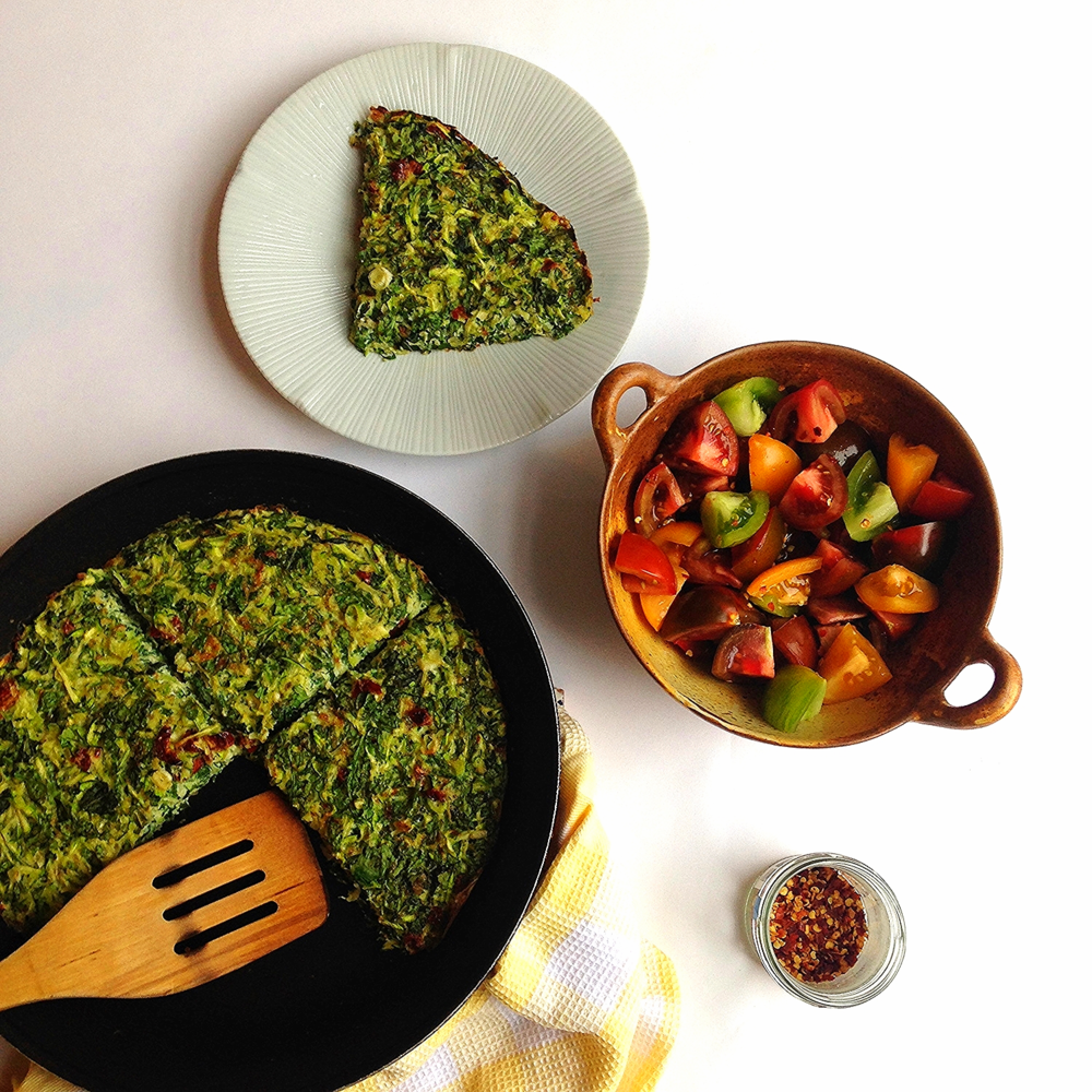 Herby green frittata