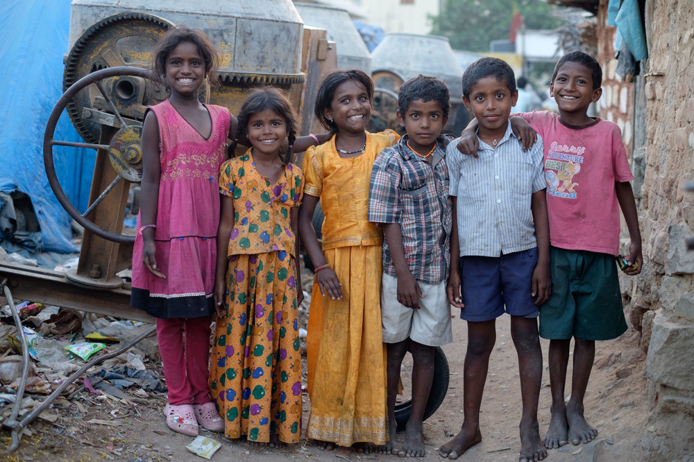 Kids from one of the communities in Bangalore