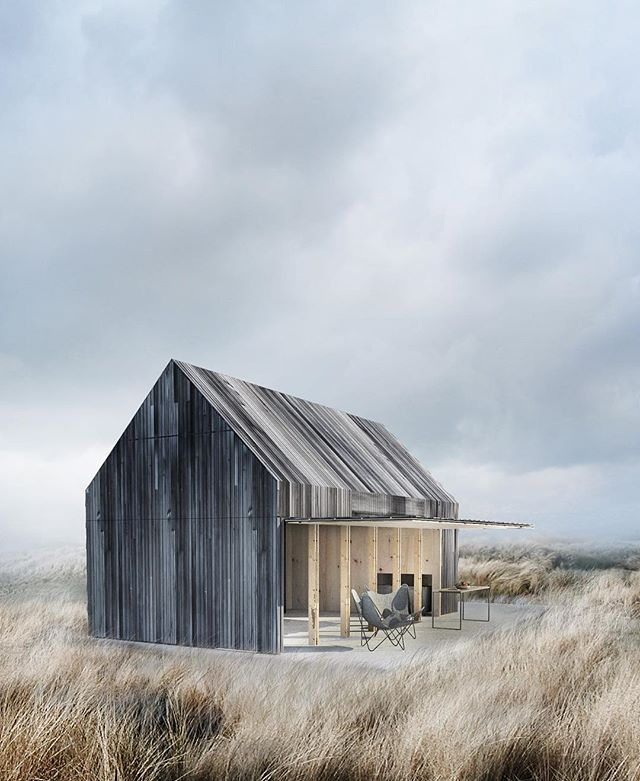The Boat House - Private Residence by WE Architecture Denmark. Built 2015. Dreaming of a holiday house just like this. Right! Look at that cladding. Thinking of our fencing with our landscape architect and want some super slim ashwood to clad our boundary fencing around pool. 👌🏽👌🏽👌🏽 #wearchitecture #denmark #boathouse