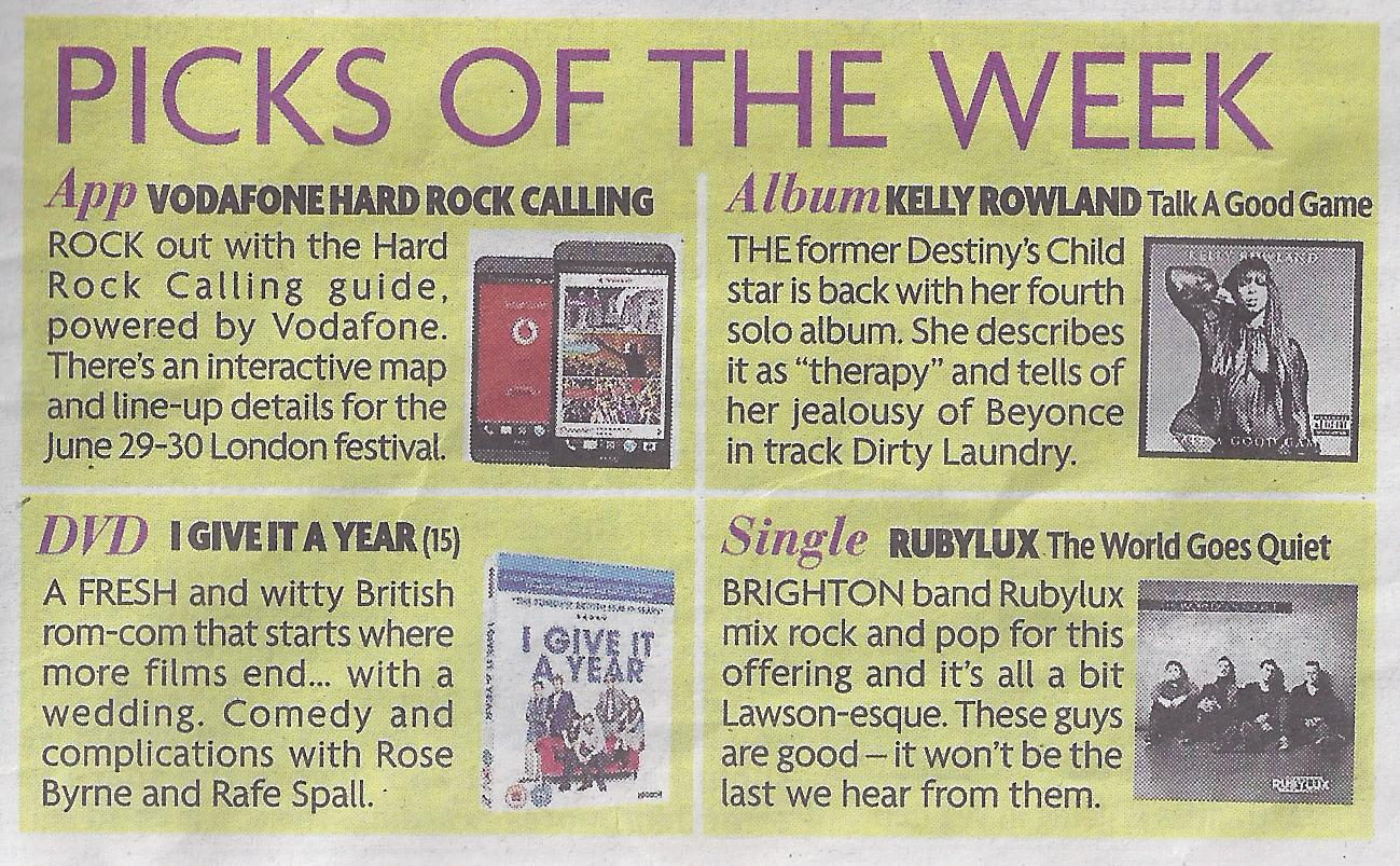 Sunday Mirror - Picks Of The Week""