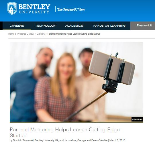 Selfie On A Stick co-founders featured by Bentley University