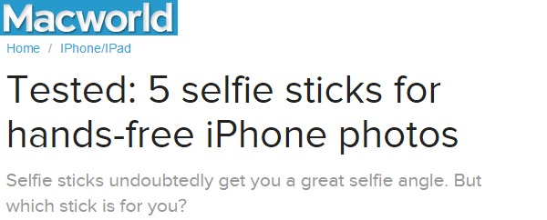 Macworld tests 5 selfie stick brands and names Selfie On A Stick Wired Selfie Stick a perfect travel accessory.