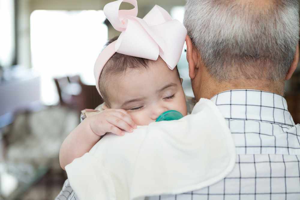 Baby Soraya Rose! Such a little bundle of JOY! While taking some great family photos, we managed to capture this sweet moment of her resting on her grandfather's shoulder. What I wouldn't give for a moment of peace like this!
