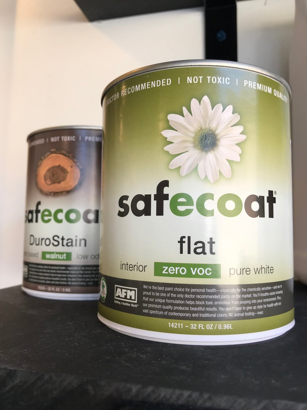 Pictured: AFM safecoat interior paint (quart size)