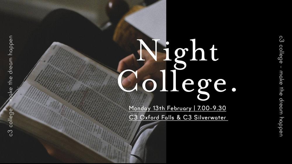 c3 college night college 2017