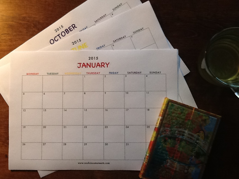 Get your copy of this free printable 2015 calendar when you sign up for the souliciousmoments newsletter in the sidebar.