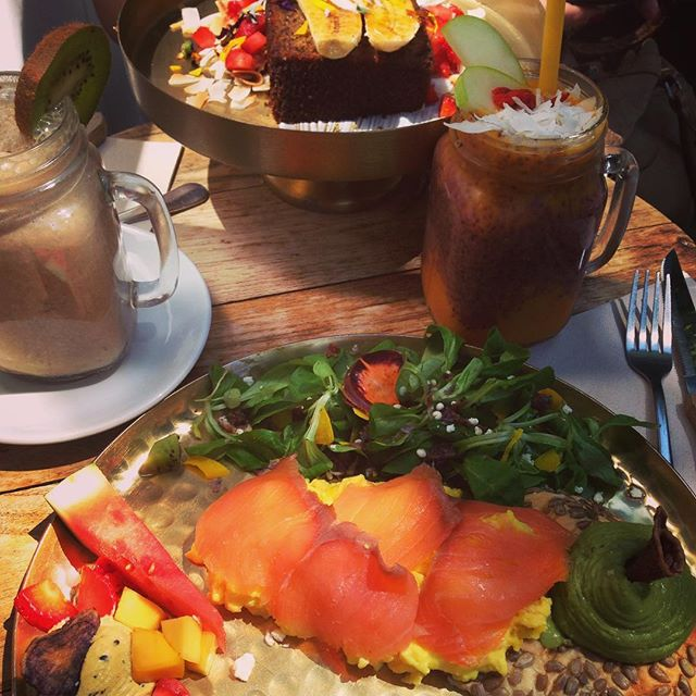 Best brunch in Barcelona! 💚🌞 #souliciousmoments #brunch #barcelona #delicious