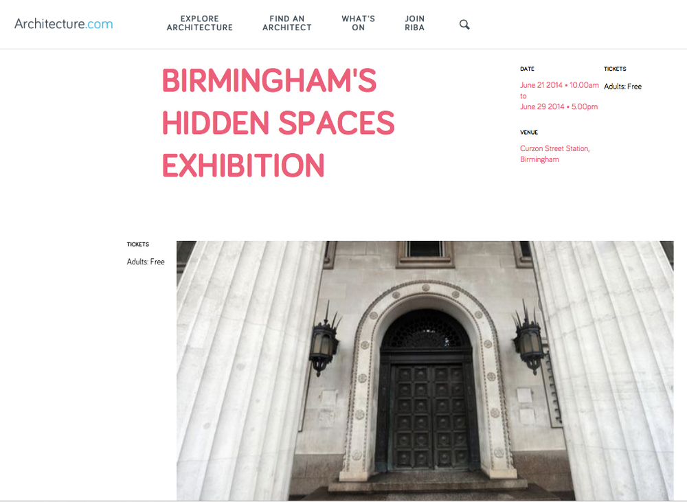 http://www.architecture.com/WhatsOn/June2014/BirminghamsHiddenSpacesExhibition.aspx