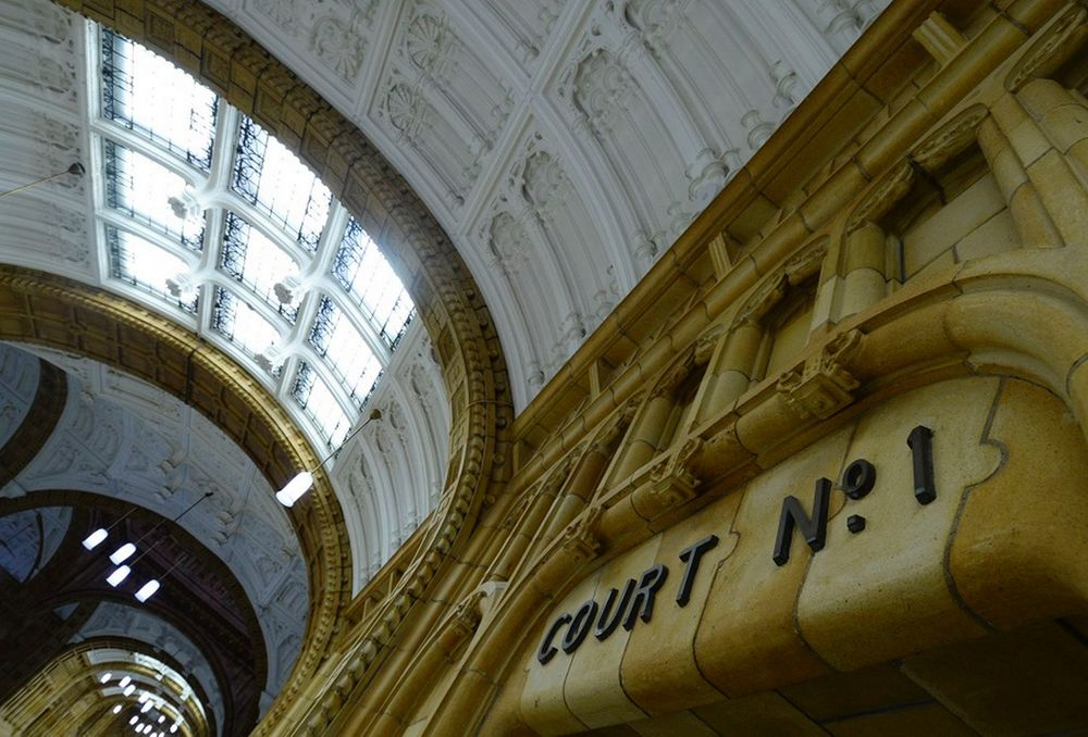The main corridor to the courtrooms