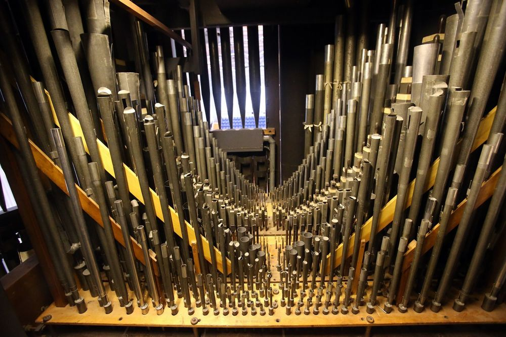 Inside the pipe organ