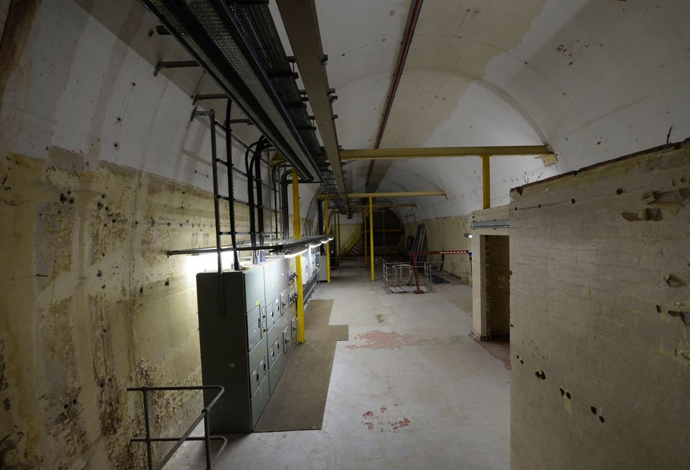 Inside the former mess room of the Anchor Telephone Exchange - Image: Birmingham Post