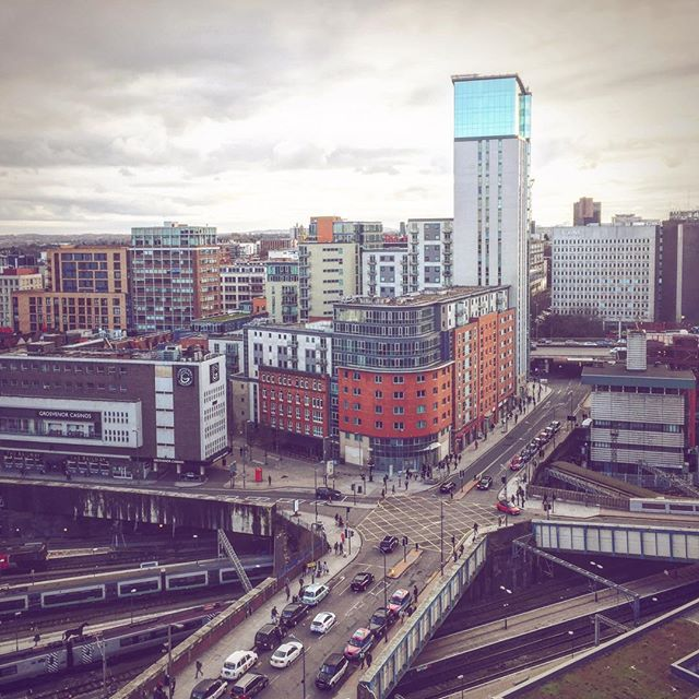 Moody skies over the city this evening.  Here's the view looking over Navigation Street, taken from the roof of 102 New Street.  #RooftopTuesdays  #skyline #hiddenbrum #birmingham #igersbirmingham #bhamgram #newstreetstation #moodygrams #thisisbham