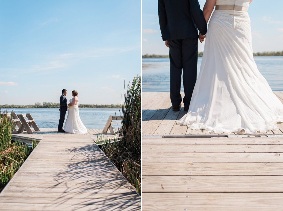 Chelsea Bliefernicht | Madison WI Wedding Photographer | Edgewood College Boardwalk Ceremony