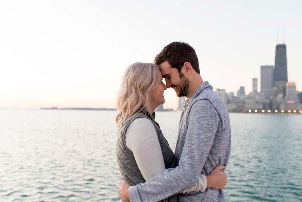 Chicago-North-Avenue-Beach-Sunrise-Engagement-Photography