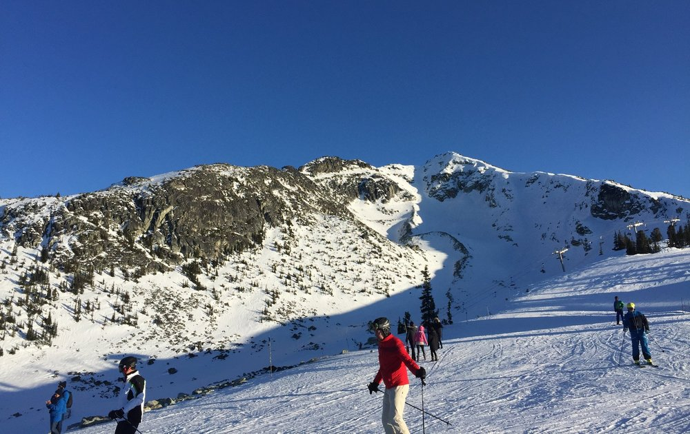 "Early season on Blackcomb: a bit bare but great ""spring"" conditions!"