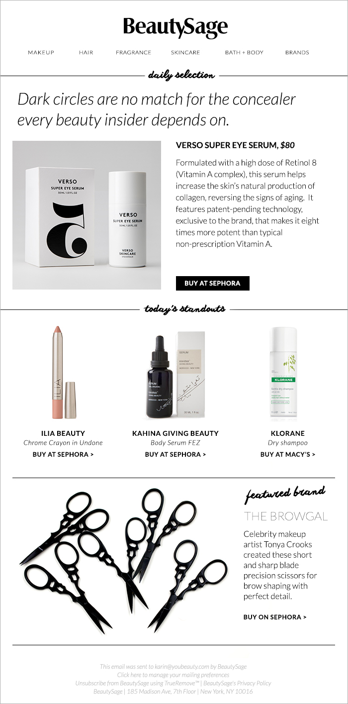 BeautySage daily email