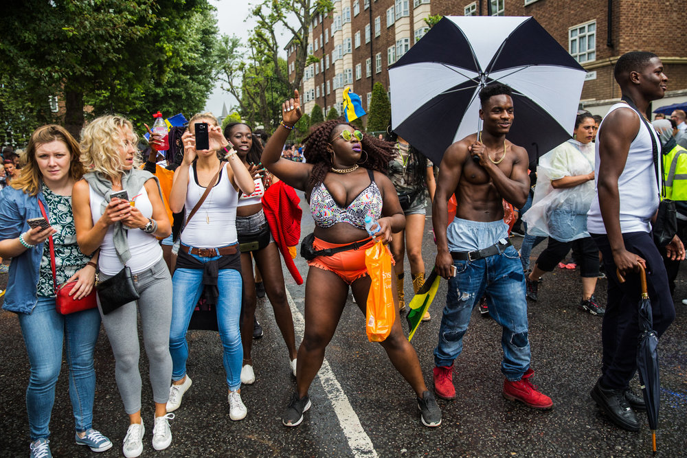 UNITED KINGDOM, London: Revellers at the Notting Hill Carnival 2016.
