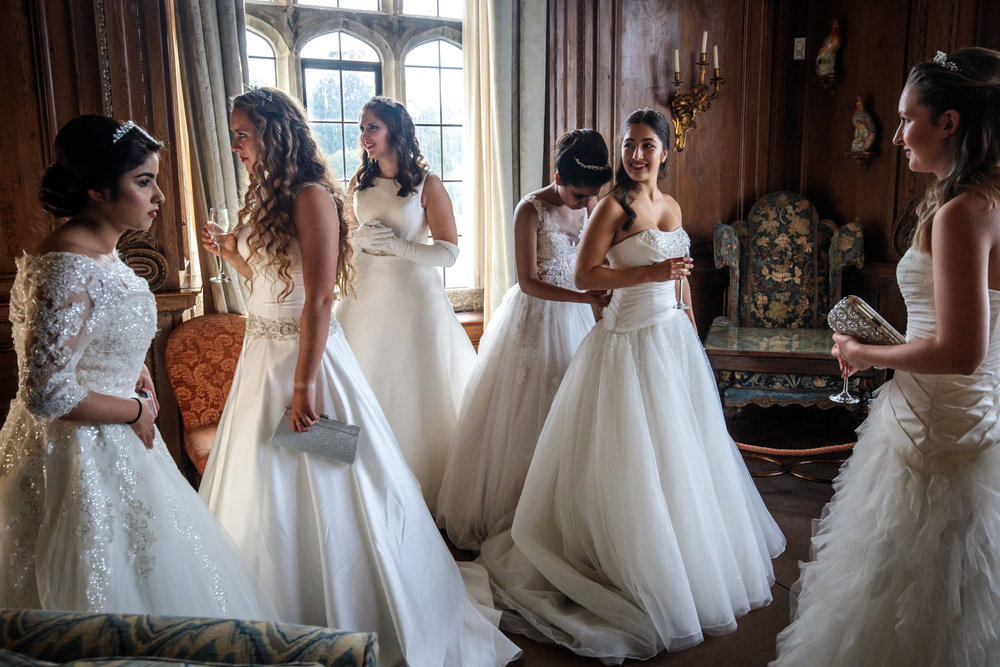 Debutantes gather at Leeds Castle during the Queen Charlotte's Ball on September 09, 2017 in Maidstone.