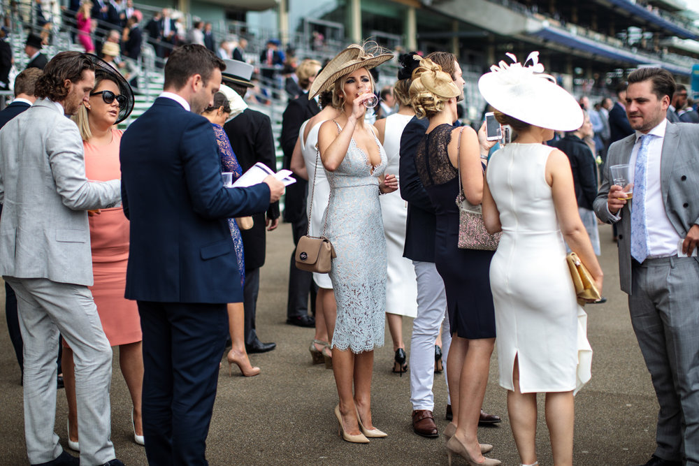 Racegoers attend Royal Ascot 2017 at Ascot Racecourse on June 22, 2017 in Ascot.