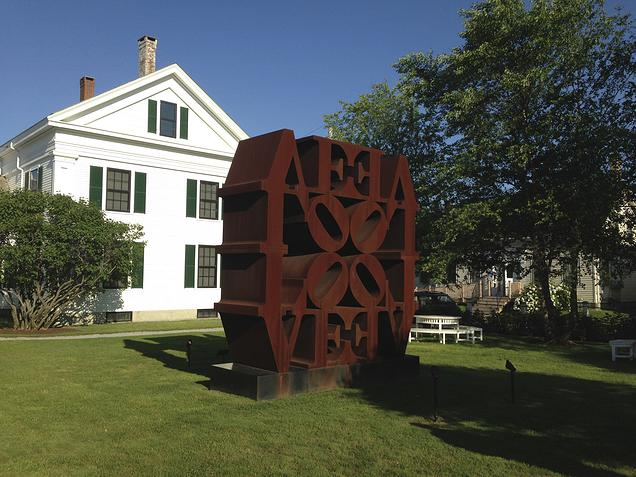 {The beautiful courtyard with one of Robert Indiana's love sculptures}