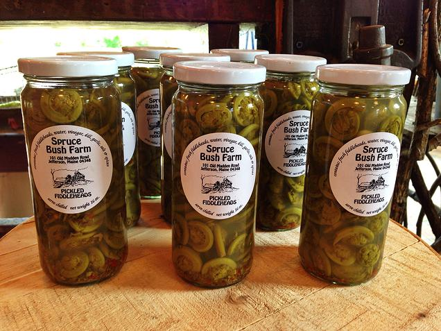 {Fiddleheads are very popular here in Maine- I've never seen them pickled...not sure if those would be tasty or not.}