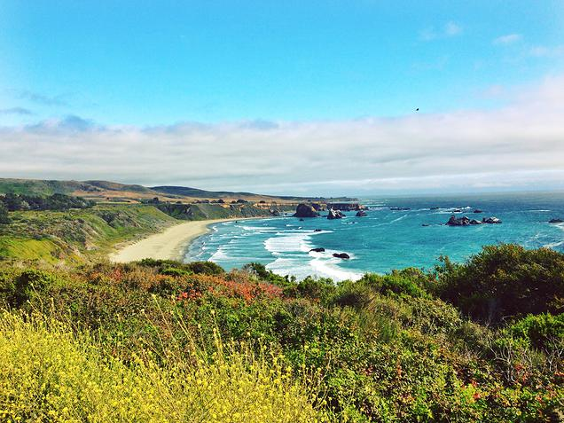 {Taking the coastal Route 1 to Big Sur and San Fran}