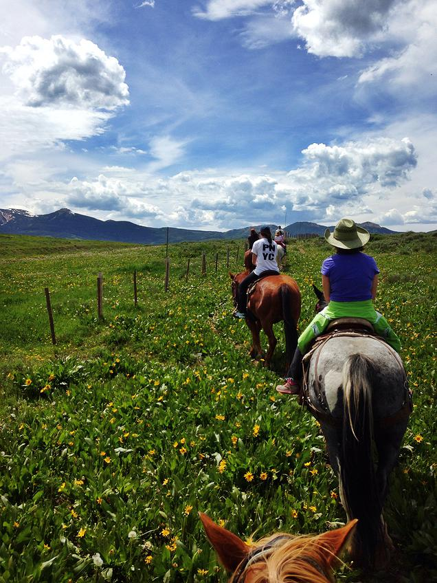 {Trail ride in Steamboat Springs, CO}