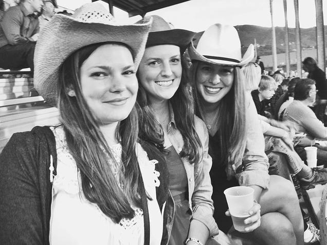 {The gals hittin' up the rodeo}