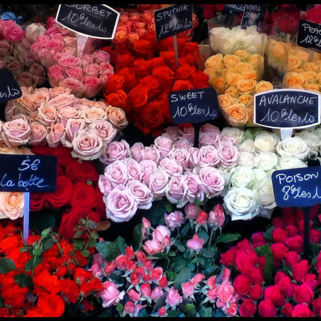 {Flowers at the Marché Raspail}