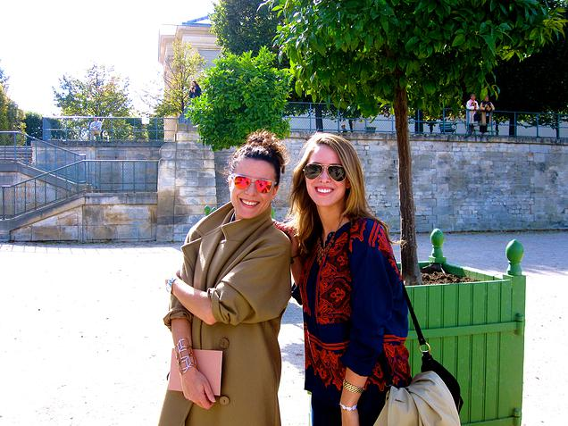 {Meeting one of my favorite bloggers, Garance from    Garance Doré    before a show}