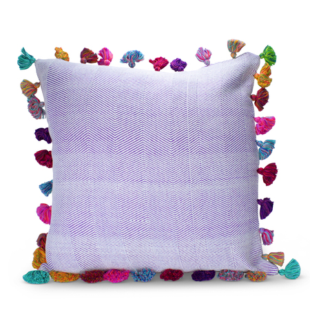 {Furbish Studio  tassel pillow }