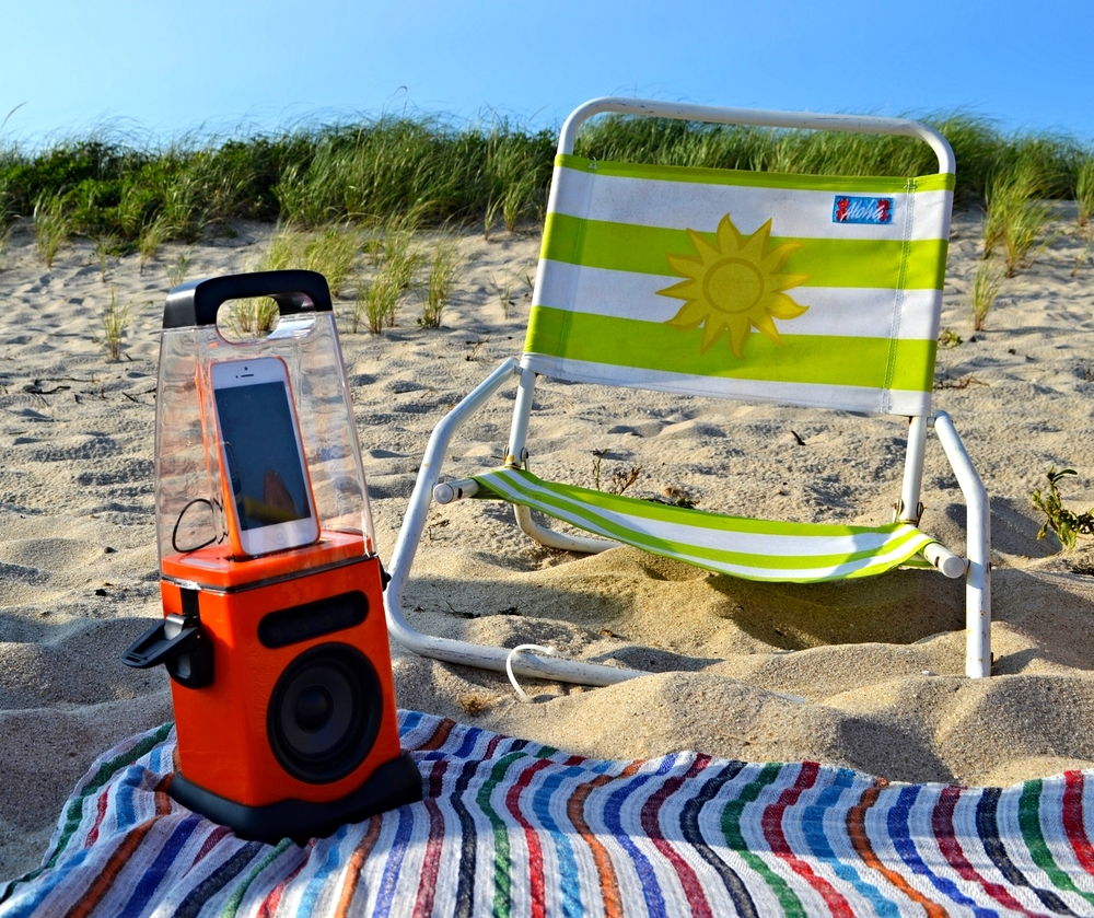 {We love our  beach speakers }