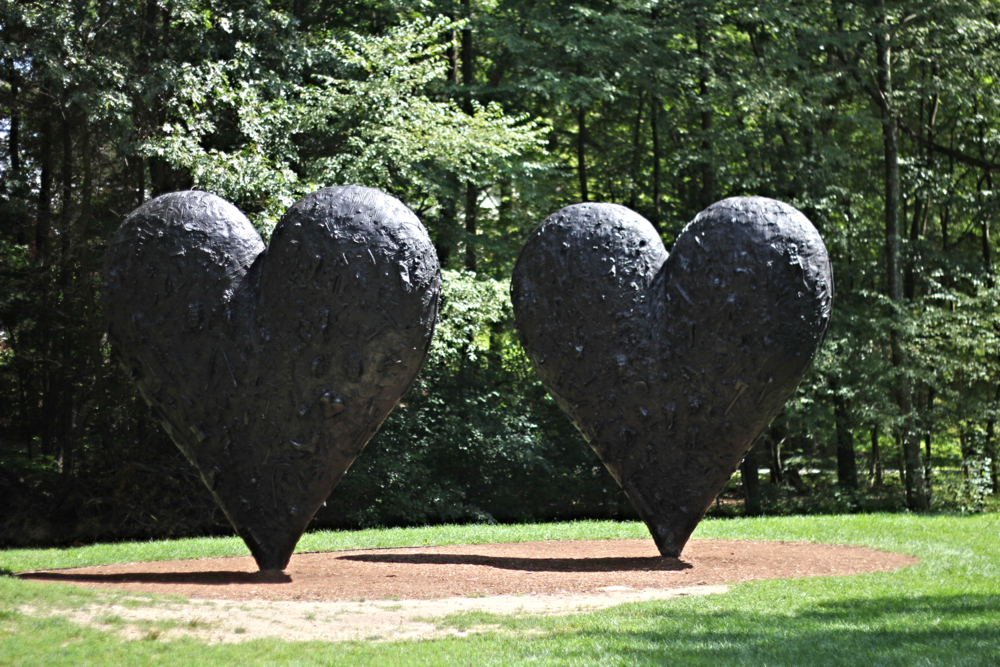 {Two Black Hearts by Jim Dine}