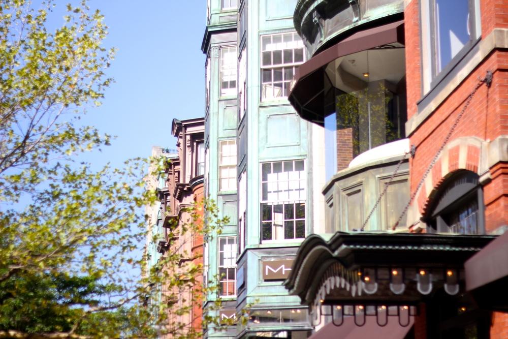 {Back in Boston on Newbury St.}