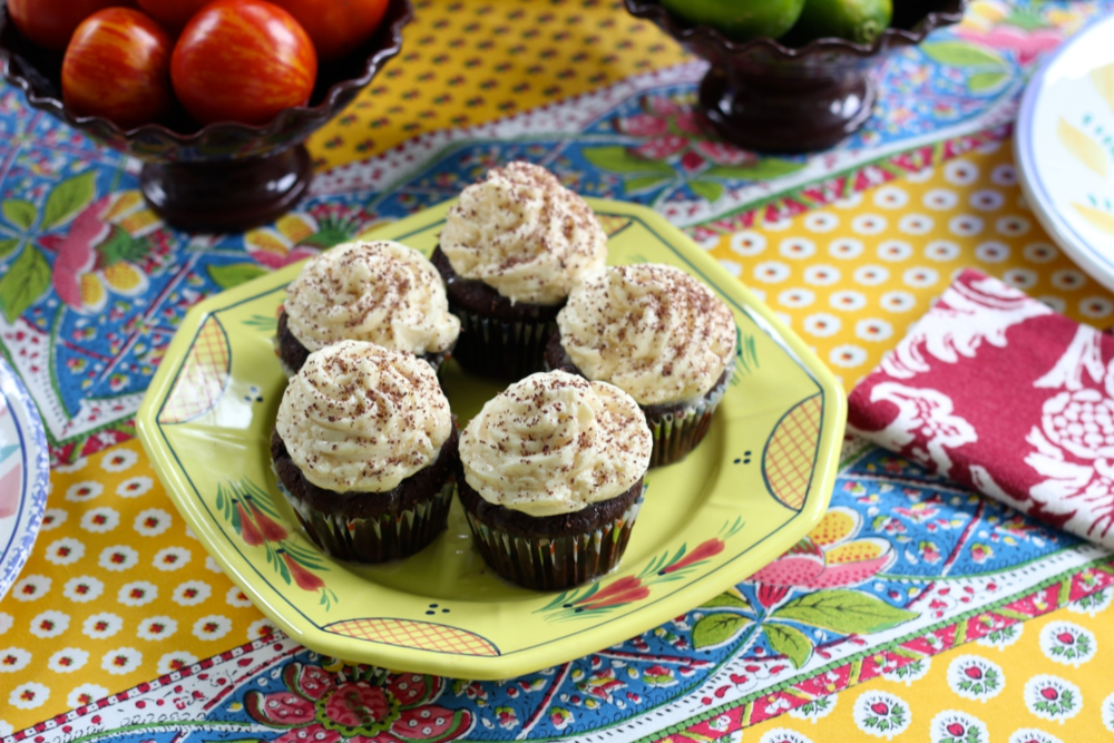 {I made some Mexican chocolate cupcakes in keeping with theme..}