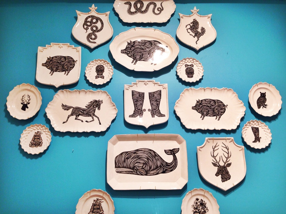 {Relief prints copied onto plates!}