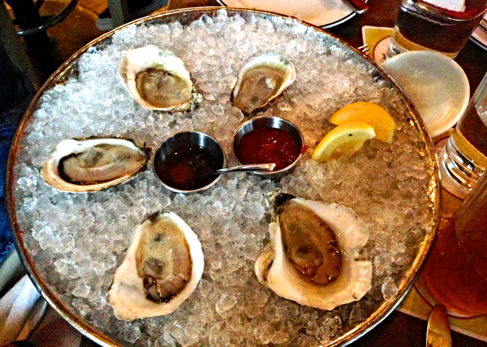 {Delicious dinner at Island Creek Oyster}
