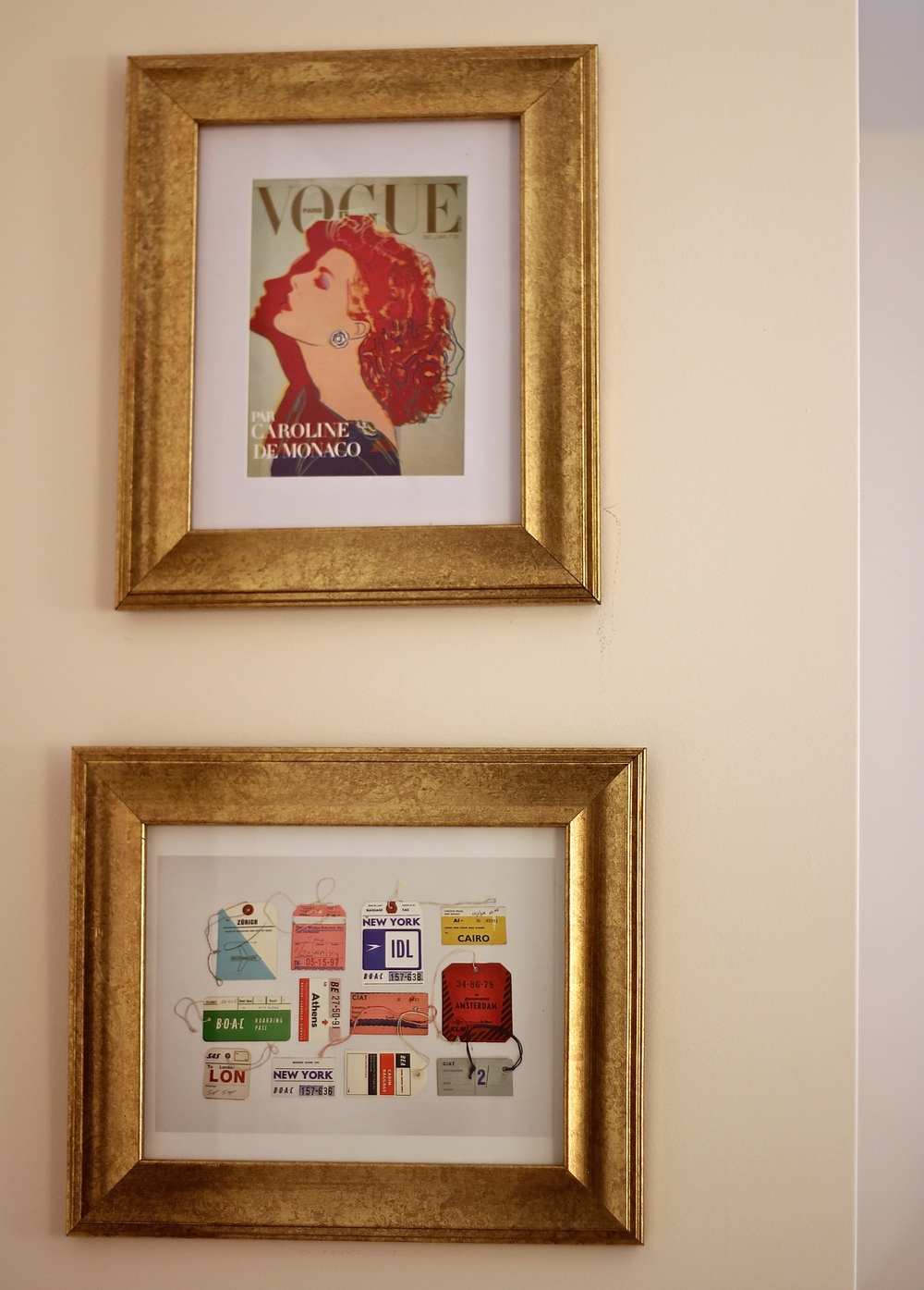 {Some new bargain frames I just put up in my bedroom}