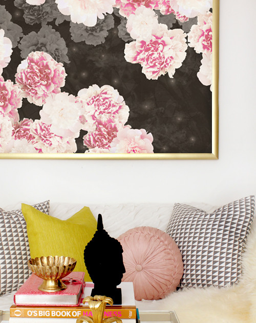 Night Peonies on Black, starting at $113