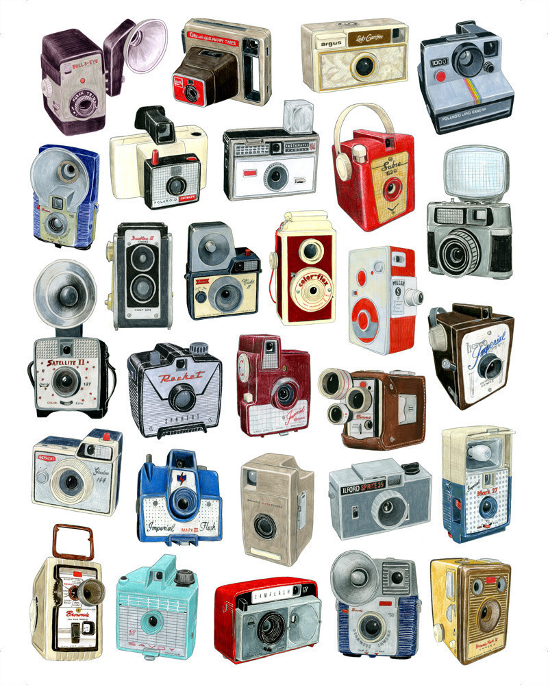28 Camera Drawings, starting at $24