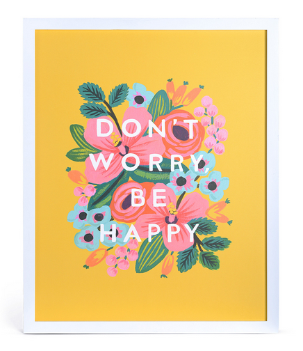 Don't Worry Be Happy Print, $50