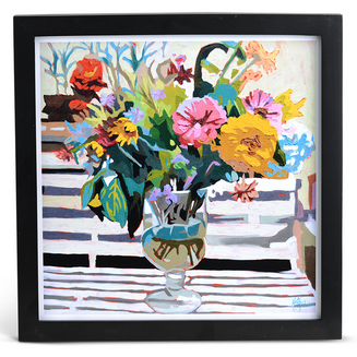 Zinnia Arrangement Print, $40